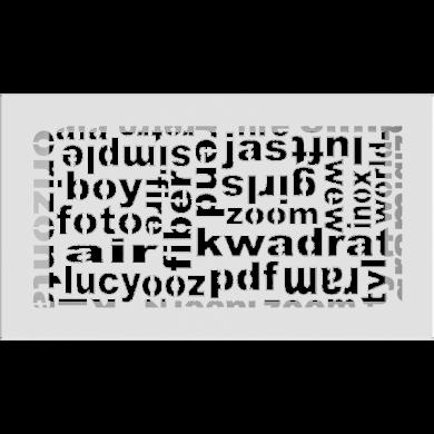 Решетка 30ABC/B  17/30- бяла