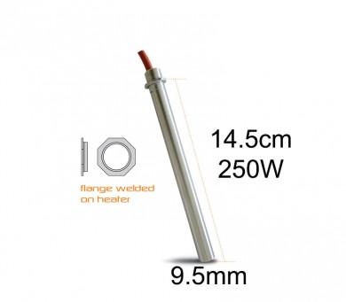 Метален нагревател 250 W-14.5 см. 9.5 mm